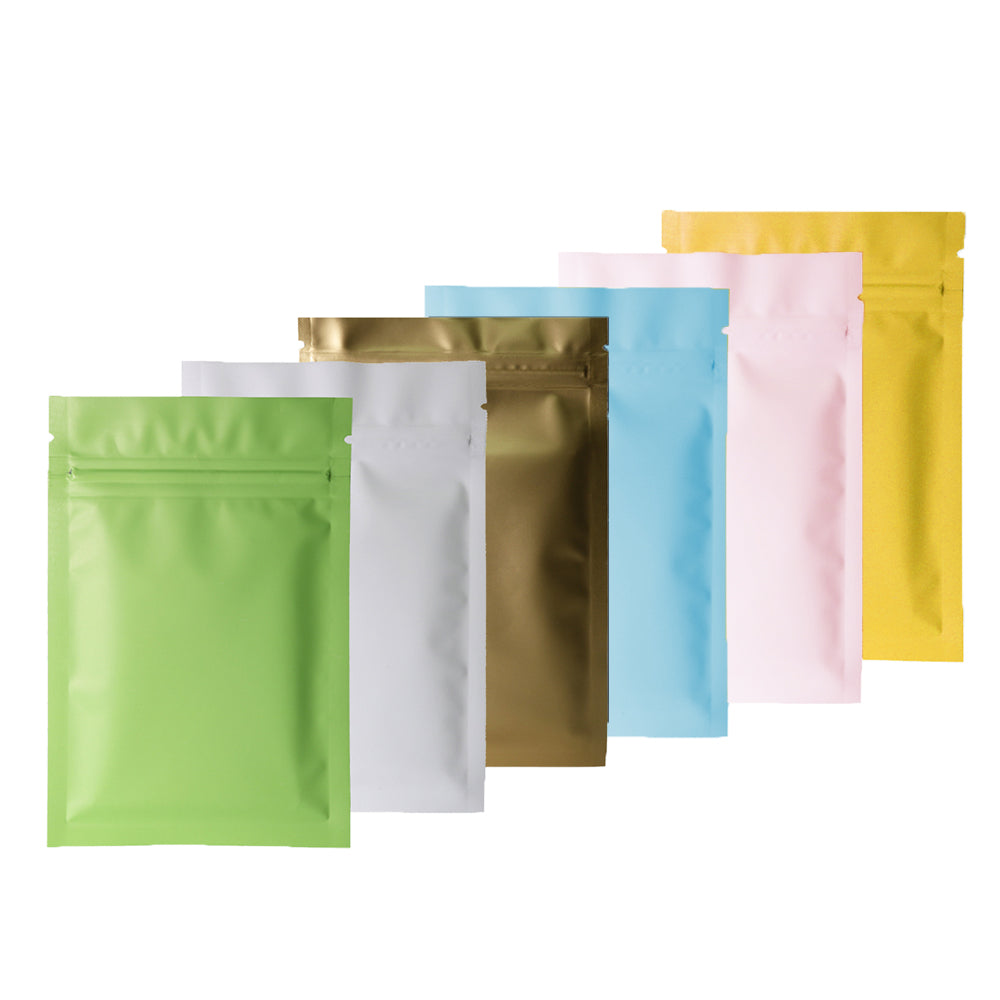 QQ Studio® Pastel Matte Double-Sided Metalized Foil Flat QuickQlick™ Bags