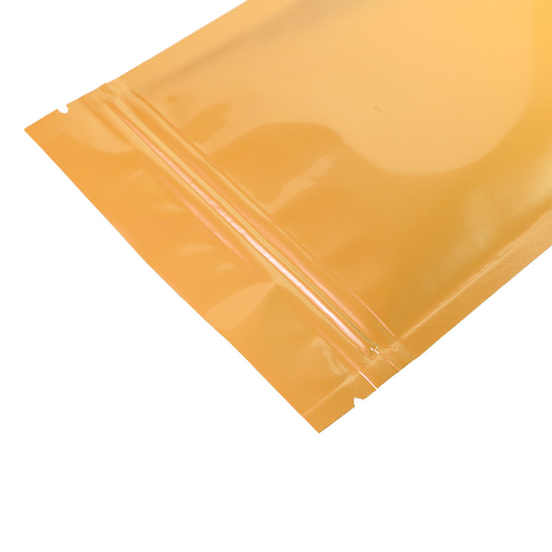 QQ Studio® Glossy Orange Sherbet Double-Sided Mylar QuickQlick™ Bags