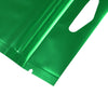 QQ Studio® Matte Half Sage Green Mylar Foil QuickQlick™ Bags with Triangle Hang Hole