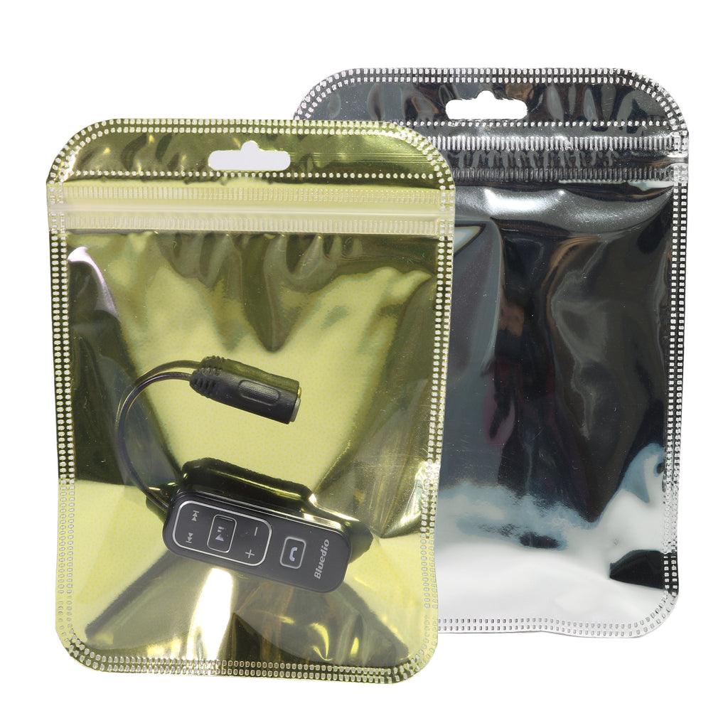QQ Studio® Glossy Transparent Single Sided Mylar QuickQlick™ Bags with Rounded Top and Hang Hole