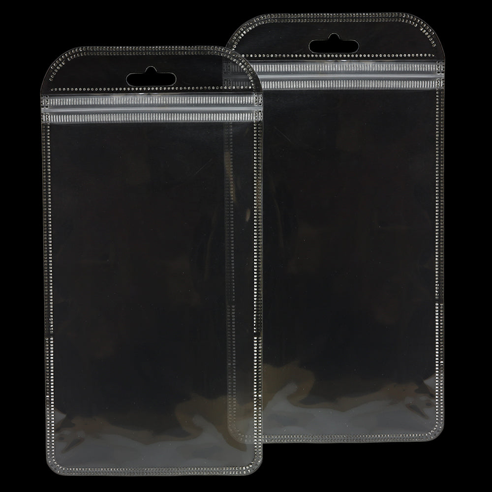 QQ Studio® Glossy Quartz Clear Rounded Corners Plastic QuickQlick™ Bags with Butterfly Hang Hole