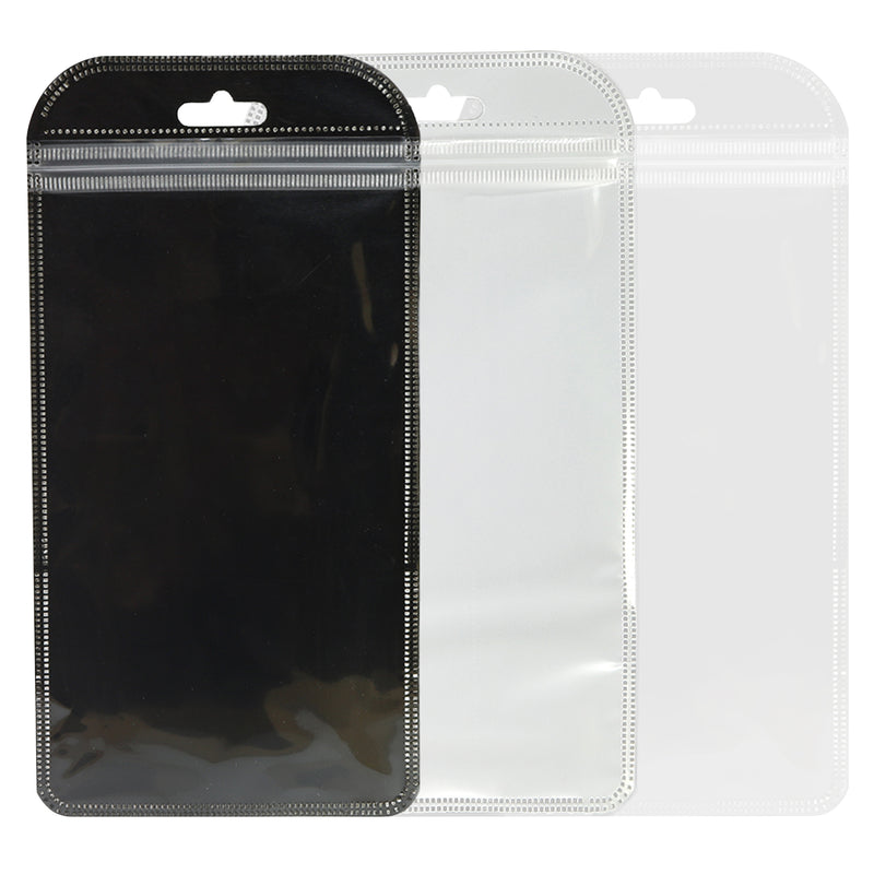 QQ Studio® Glossy Rounded Corners Transparent Poly Plastic QuickQlick™ Bags with Butterfly Hang Hole