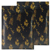 QQ Studio® Gold Floral Design Vineyard Black Double-Sided Aluminum QuickQlick™ Bags