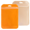 QQ Studio® Glossy Half Sunset Orange Rounded Corners Plastic QuickQlick™ Bags with Butterfly Hang Hole