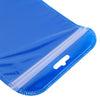 QQ Studio® Glossy Half Ocean Blue Rounded Corners Plastic QuickQlick™ Bags with Butterfly Hang Hole