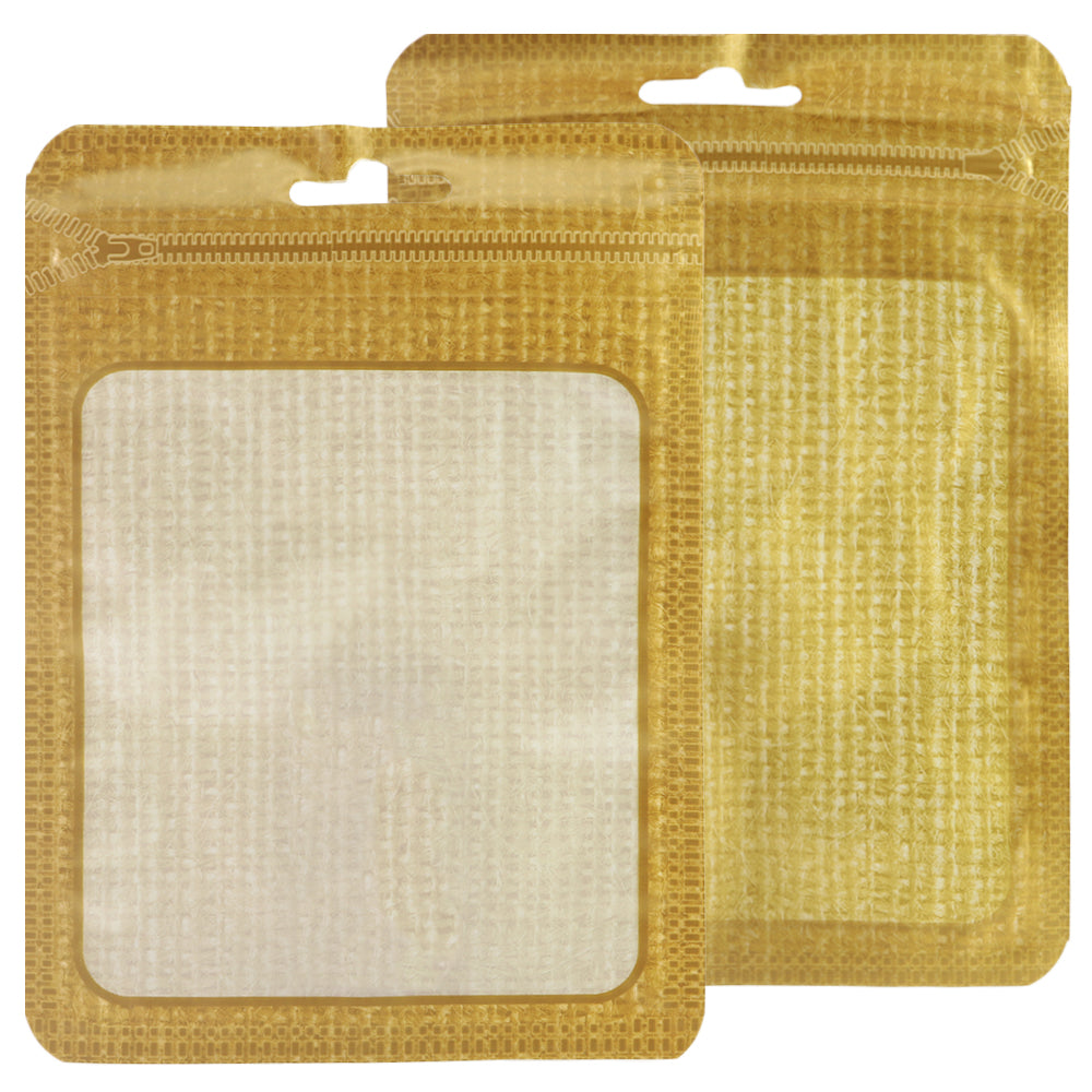 QQ Studio® Translucent Woven Bordered Design Flat QuickQlick™ Bags with Butterfly Hang Hole