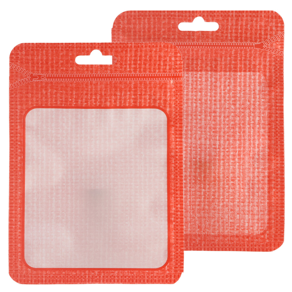 QQ Studio® Translucent Red Thread Flat QuickQlick™ Bags with Butterfly Hang Hole