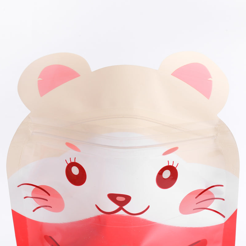 QQ Studio® Hamster Red Stand QuickQlick™ Bags with Animal Print Window