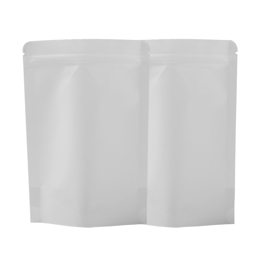 QQ Studio® Matte Parchment White Kraft with Inner Plastic Stand Strong™ Bags
