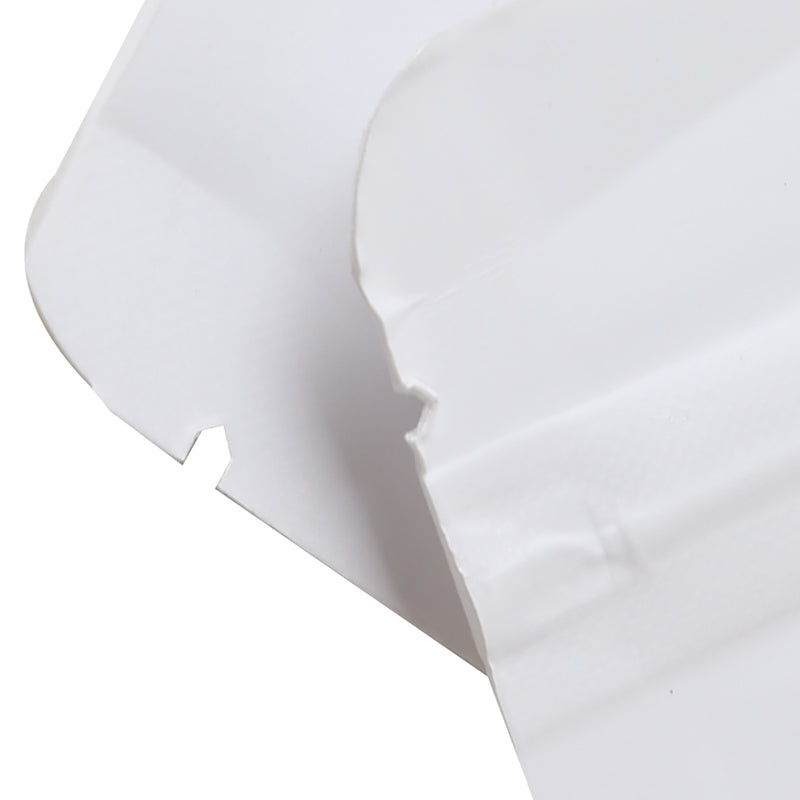 QQ Studio® Matte Parchment White Kraft with Translucent Window Stand Strong™ Bags