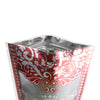 QQ Studio® Royal Red Floral Border Design Translucent Stand Strong™ Bag