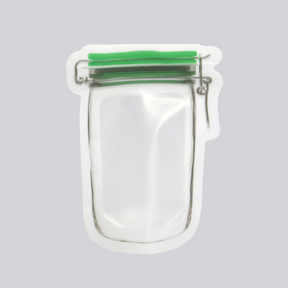 QQ Studio® Pickle Green Border Canister Shaped Plastic Stand Strong™ Bags