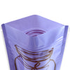 QQ Studio® Glossy Grape Jam Purple Printed Bottle Design Stand QuickQlick™ Bags