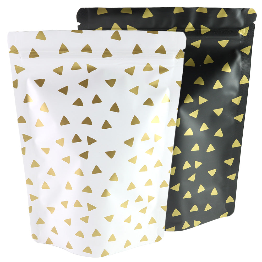 QQ Studio® Triangle Design Matte Double-Sided Aluminum QuickQlick™ Bags