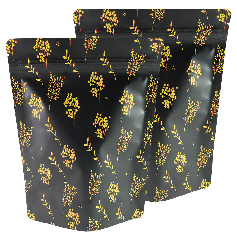 QQ Studio® Gold Floral Design Vineyard Black Double-Sided Aluminum Stand QuickQlick™ Bags