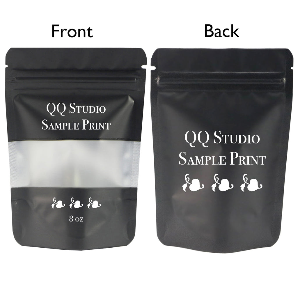 QQ Studio® Matte Frosted Window Mylar Stand QuickQlick™ Bags (Double Side Print)