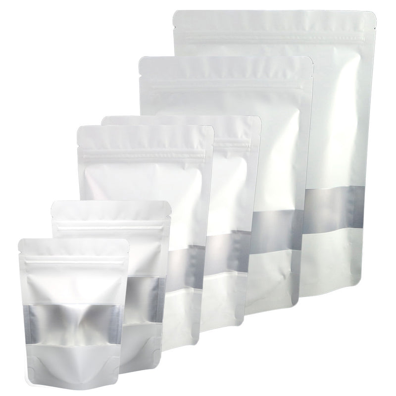 QQ Studio® Matte Frosted Window Mylar Stand QuickQlick™ Bags