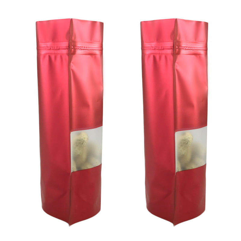 QQ Studio® Matte Hydrant Red Frosted Window Mylar Stand QuickQlick™ Bags