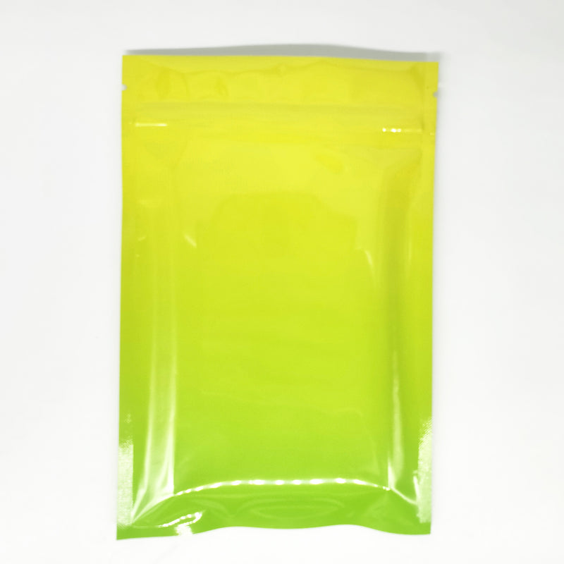 QQ Studio® Glossy Ripening Yellow Two-Tone Ombre Gradient Mylar QuickQlick™ Bags