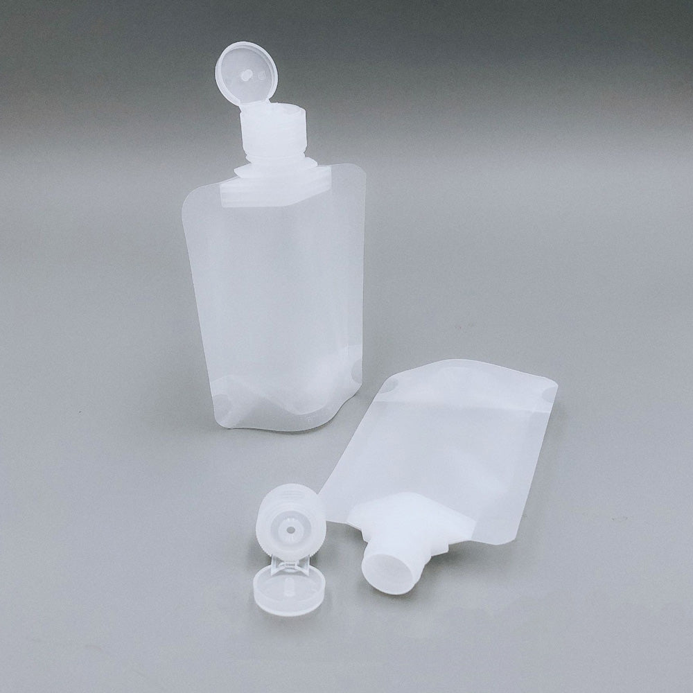 Matte Plastic Stand Pouch with Top Flip Cap Spout