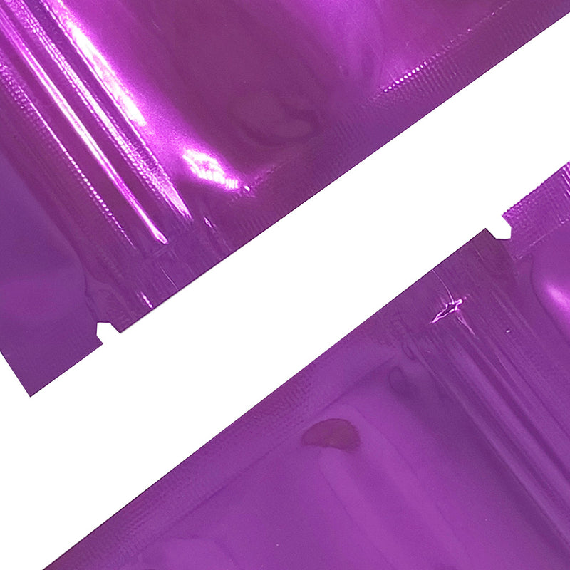 QQ Studio® Glossy Half Ripe Plum Purple Window Mylar Flat QuickQlick™ Bags