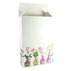 Flower Vase Printed Cardboard Gift Boxes with Fold and Tuck Tabs