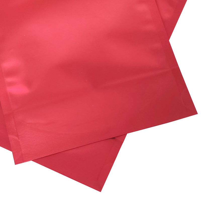 QQ Studio® Matte Strawberry Red Mylar Stand Strong™ Bags