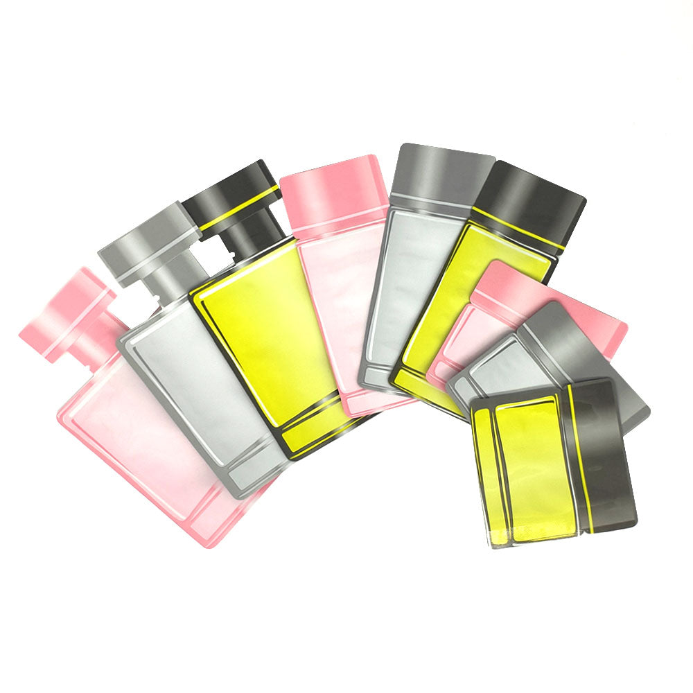 QQ Studio® Double-Sided Aluminum Cosmetic Bottle Shape Open Bottom Bags