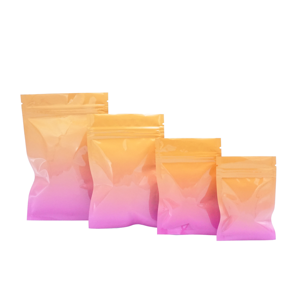 QQ Studio® Glossy Double-Sided Twilight Orange Two-Tone Ombre Gradient Mylar QuickQlick™ Bags
