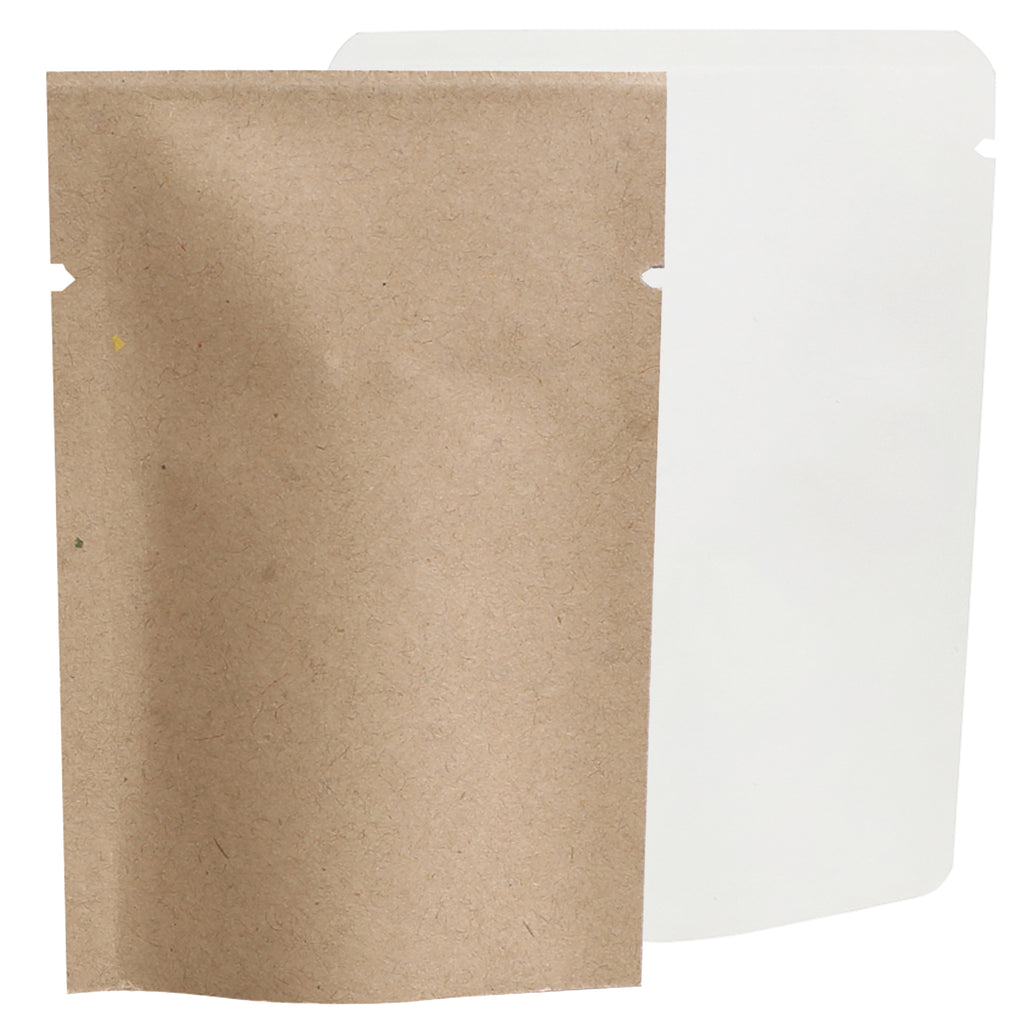 QQ Studio® Natural Kraft Mylar Foil Open Top Bags