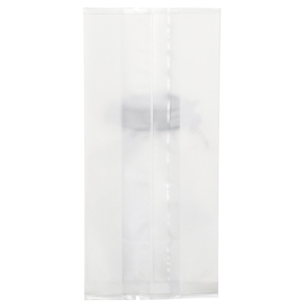 QQ Studio® White Salt with Translucent Window Jar Design Open Top Bags with Side Gusset
