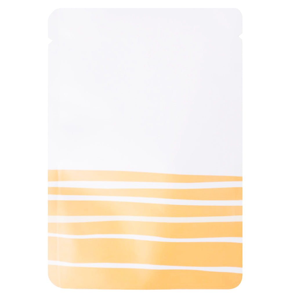 QQ Studio® Matte Desert White with Orange Lines Design Mylar Foil Open Top Bags