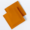 QQ Studio® Matte Pumpkin Seed Orange Aluminum Foil Open Fill Bags