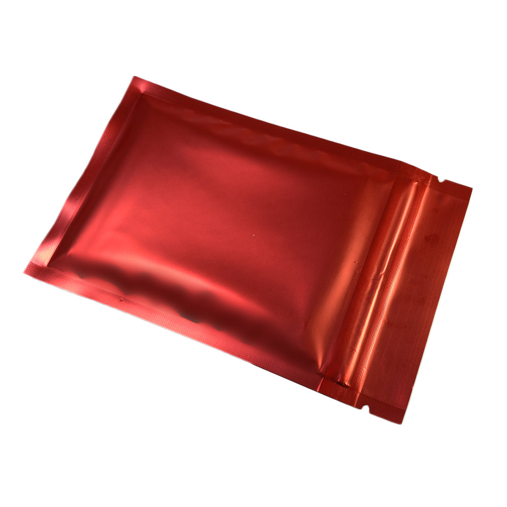 QQ Studio® Matte Cardinal Red Metallized Mylar Foil Flat QuickQlick™ Bags