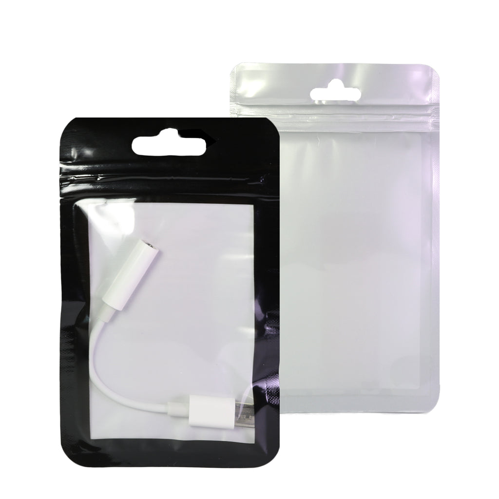 QQ Studio® Transparent Bordered Window Plastic QuickQlick™ Bags with Rounded Corners and Butterfly Hang Hole