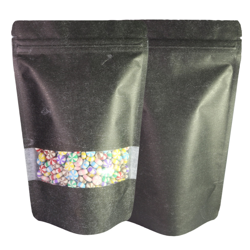 QQ Studio® Double-Sided Rice Paper with Clear Window Stand Strong™ Bags