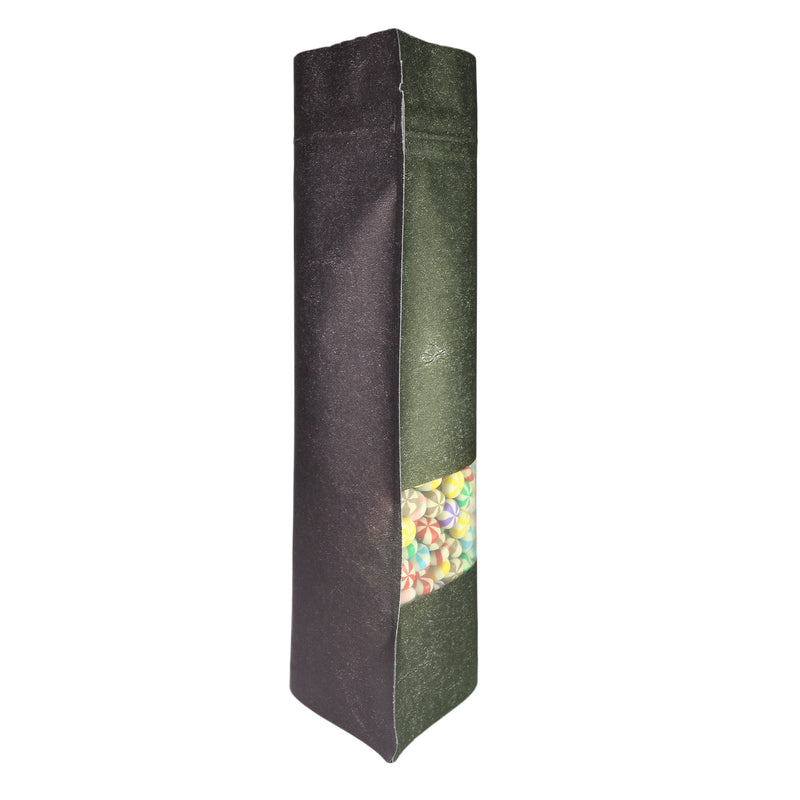 QQ Studio® Granite Black Rice Paper with Clear Window Stand Strong™ Bags