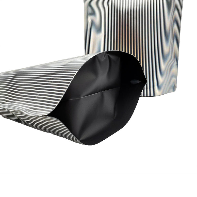 QQ Studio® Double-Sided Pinstripe Black Mylar Stand QuickQlick™ Bags