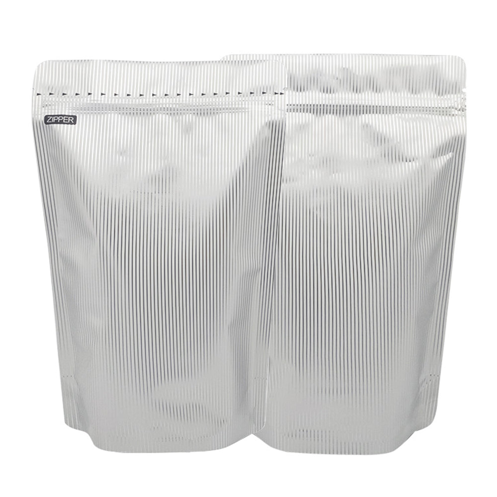 QQ Studio® Double-Sided White Socks Mylar StandStrong™ Bags