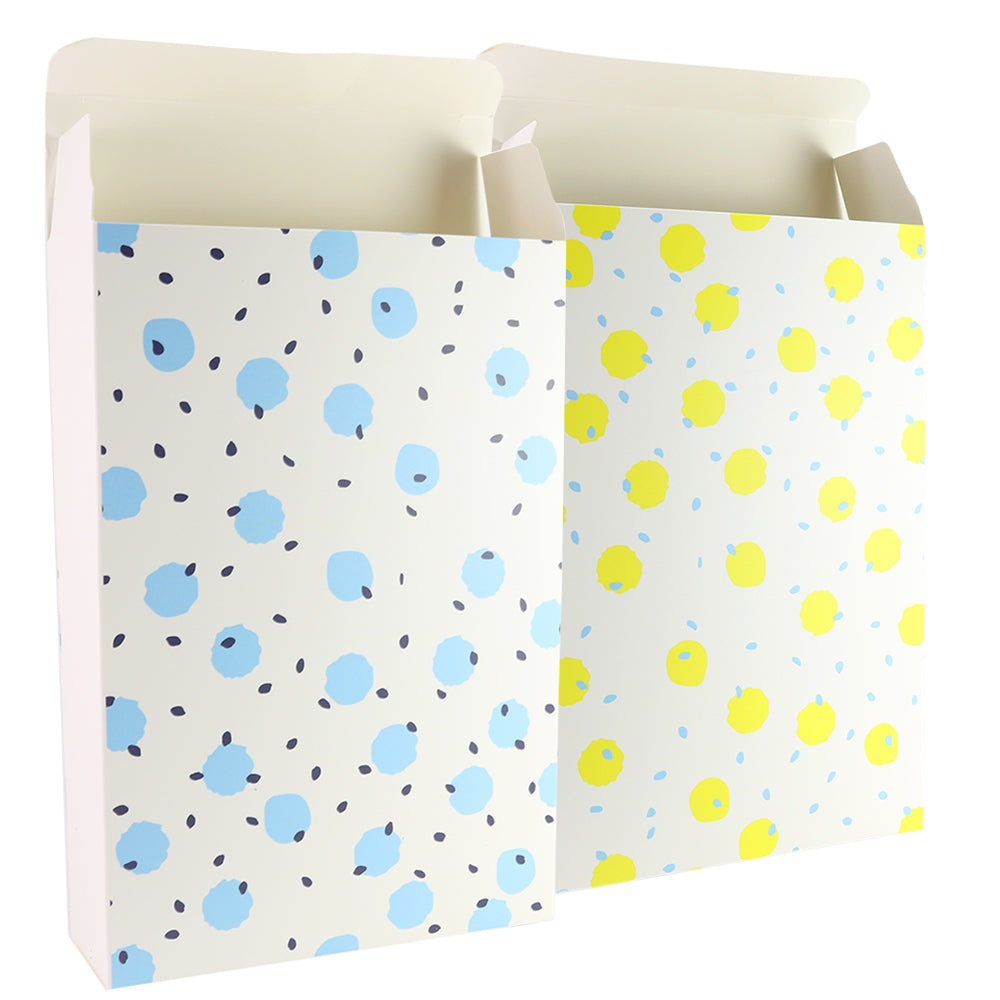 Polka Dots Printed Cardboard Gift Boxes with Fold and Tuck Tabs