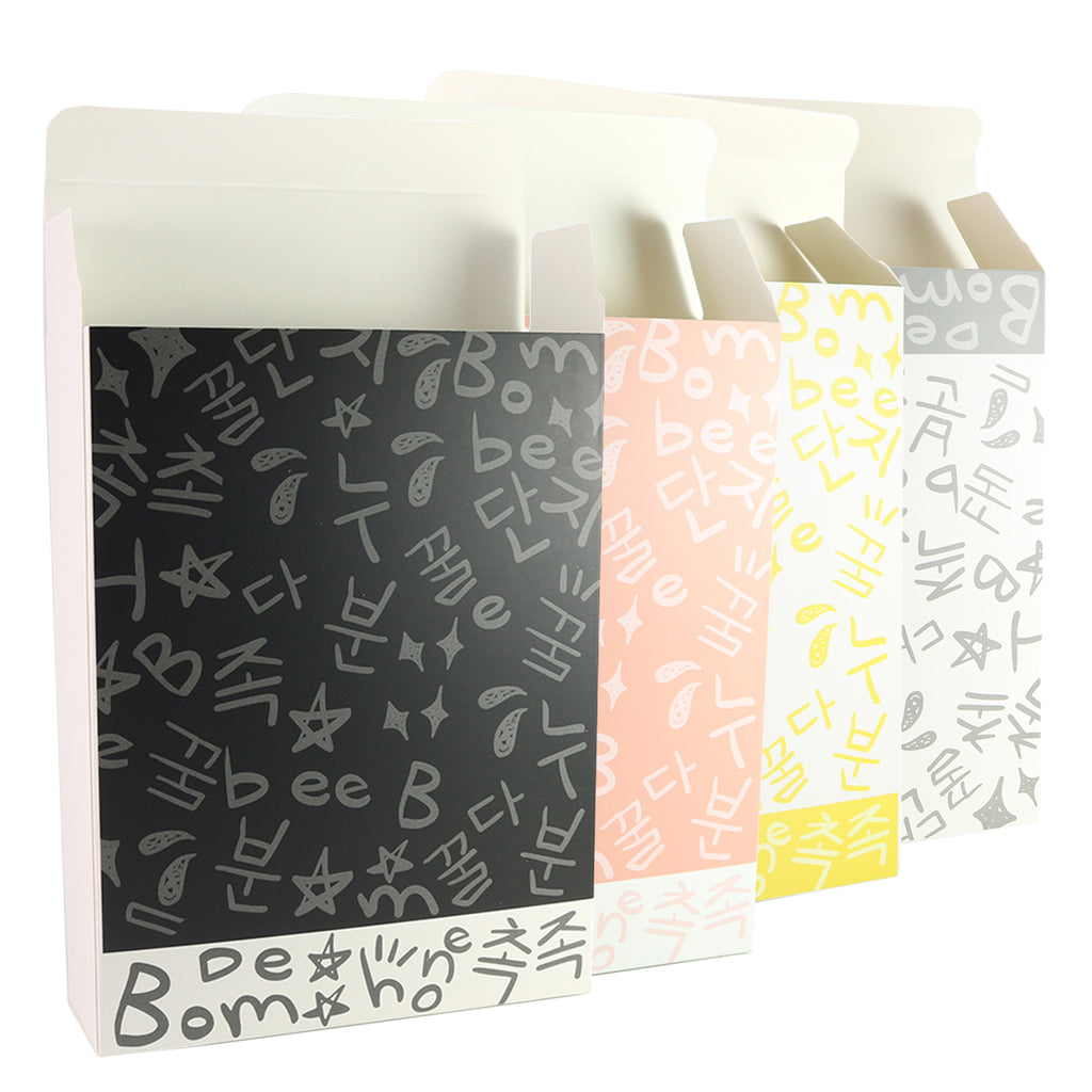 Graffiti Letters Printed Cardboard Gift Boxes with Fold and Tuck Tabs