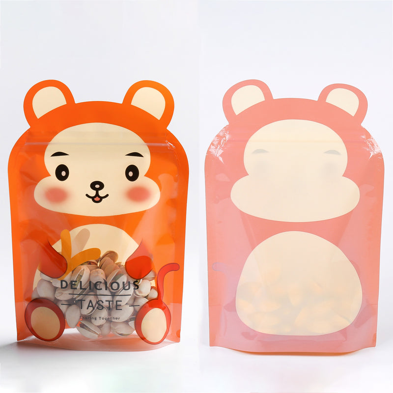 QQ Studio® Monkey Brown Stand QuickQlick™ Bags with Animal Print Window