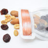 QQ Studio® Copper Lid Contained Clear Jar Shaped Design Flat Plastic QuickQlick™ Bags