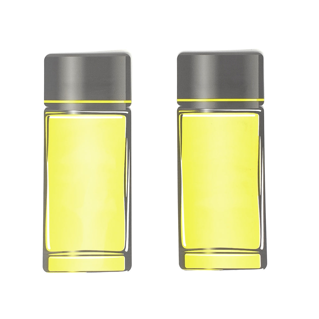 QQ Studio® Honeysuckle Yellow Aluminum Cosmetic Bottle Shape Open Bottom Bags