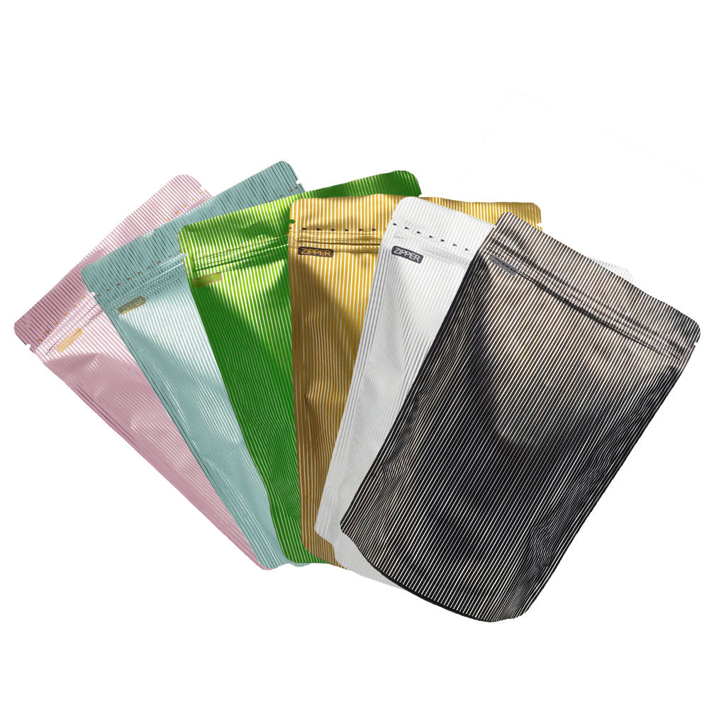 QQ Studio® Double-Sided Stripe Design Mylar Stand QuickQlick™ Bags