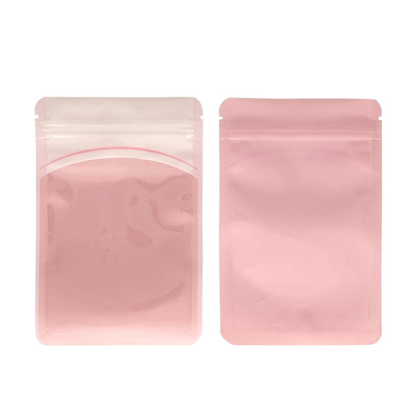 QQ Studio® Glossy Sky Pink Plastic QuickQlick™ Bags with Hang Hole