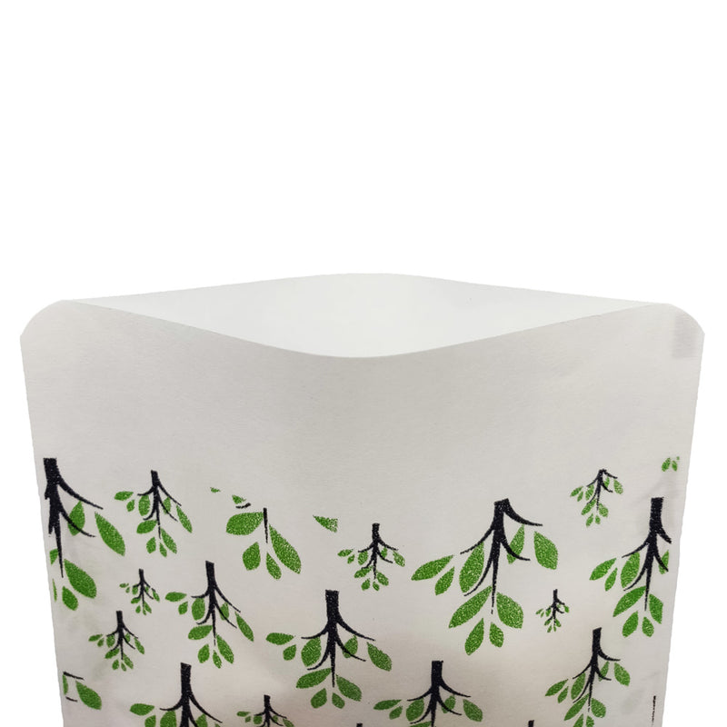 QQ Studio® Nature Green Paper Tree Design Open Top Bags