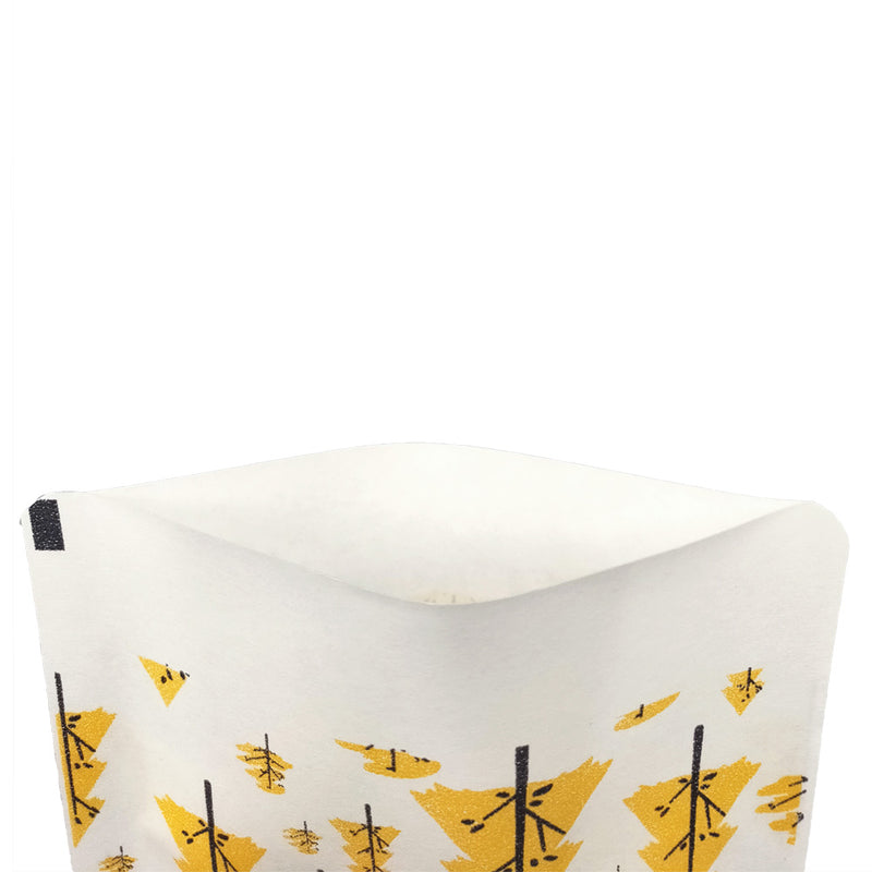 QQ Studio® Forest Yellow Paper Tree Design Open Top Bags