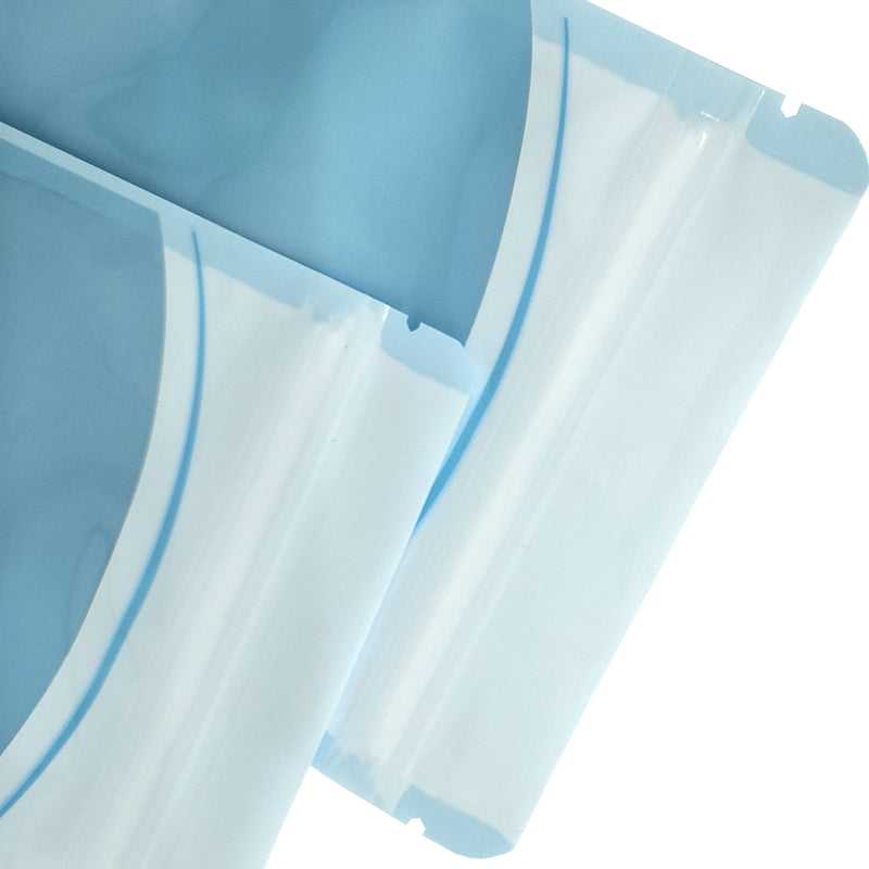 QQ Studio® Glossy Soft Baby Blue Plastic QuickQlick™ Bags with Hang Hole