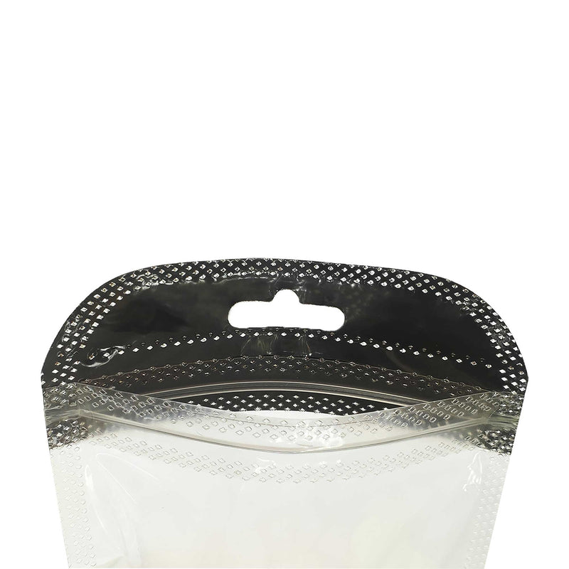 QQ Studio® Glossy Clear Front and Half-Colored Design QuickQlick™ Bags with Butterfly Hang Hole